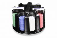 Zestaw do pokera  200szt - Caddy - Obrotowy stojak obrotowy do żetonów
