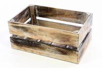 Drewniane pudełko VINTAGE DIVERO - kolor brązowy - 44 x 28 x 19 cm