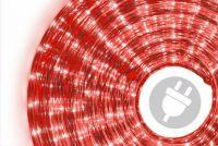 Wąż świetlny ogrodowy 10 m czerwony - 360 mini żarówek
