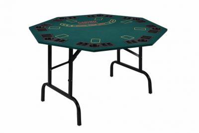 Składany stół do pokera dla 8 osób  z uchwytami na napoje