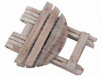 Składany stołek DIVERO Vintage - 31 cm
