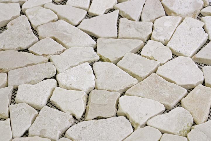 Mozaika marmurowa Garth na siatce kremowa 1 m2
