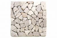 Mozaika marmurowa Garth- biała okładzina 1 m2