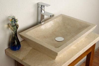 Umywalka nablatowa z naturalnego kamienia Bergamo