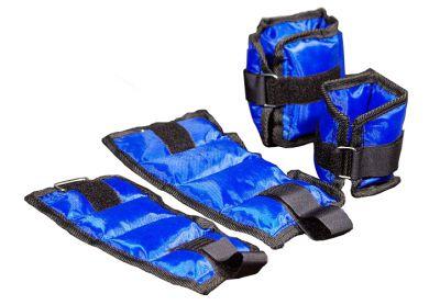 Obciążniki na ręce lub nogi (nadgarstki i kostki) – niebieskie.