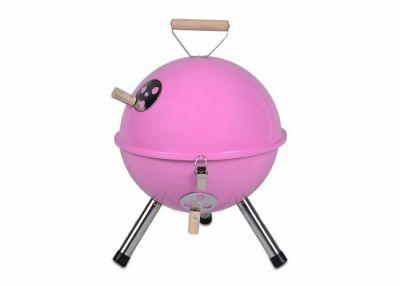 Kolorowy kulisty grill przenośny - różowy