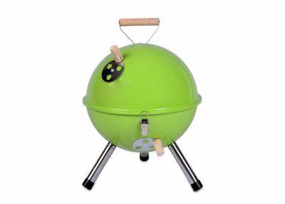 Kolorowy kulisty grill przenośny - zielony