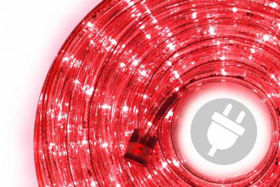 LED świetlny kabel - 480 diod, 20 m, czerwony