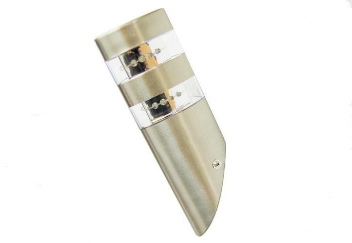 Lampa naścienna Garth 2 x 12 LED diod nierdzewna