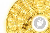LED świetlny kabel - 240 diod, 10 m, żółty