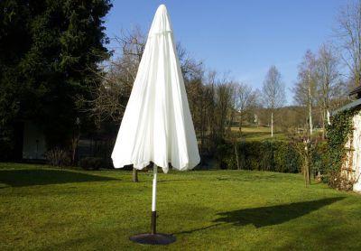 Parasol ogrodowy Garth biały z korbką 4 m