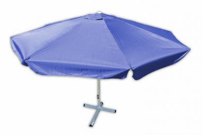 Parasol ogrodowy Garth niebieski z korbką 4 m