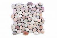 Mozaika z naturalnych kamieni ozdobnych Garth na siatce beżowa 1 mata