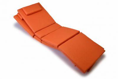 Komplet 2 x poduszka Garth na leżak pomarańczowa