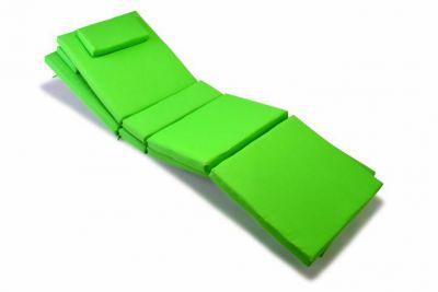 Komplet 2 x poduszka Garth na leżak zielona