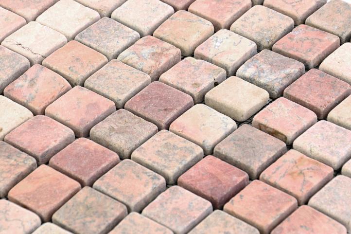 Mozaika marmurowa Garth na siatce czerwona 1 mata
