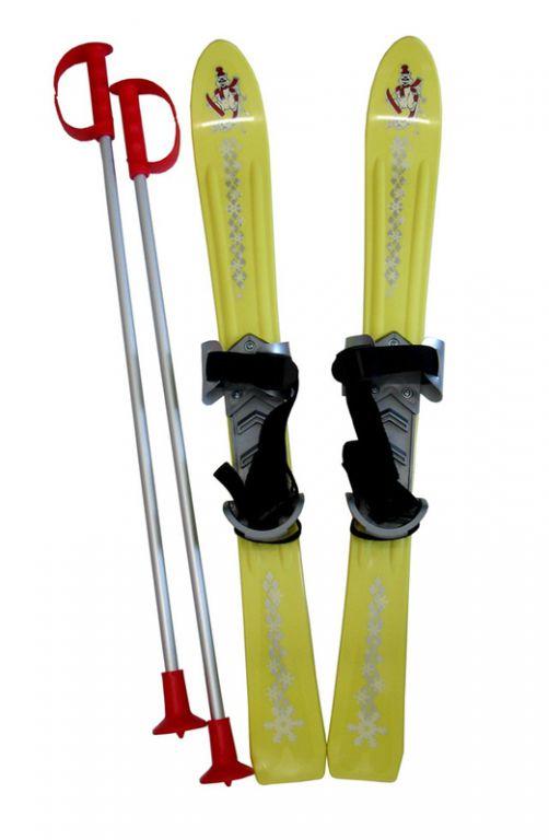 Plastkon Narty dla dzieci 70 cm - żółte