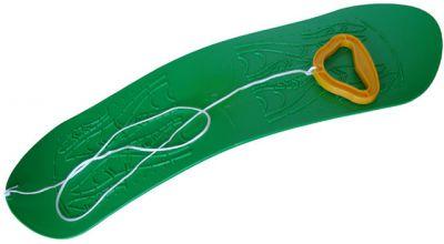 Snowboard dziecięcy plastikowy - zielone