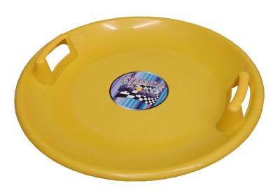 Talerz saneczkowy - Żółty
