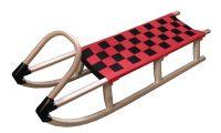 Sanki 125 cm drewniane - czerwone