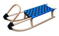Sanki drewniane 110 cm - niebieskie