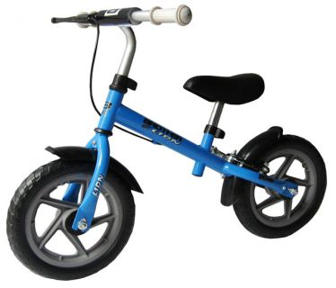 Rower dziecięcy - system odpychania się LION - niebieskie