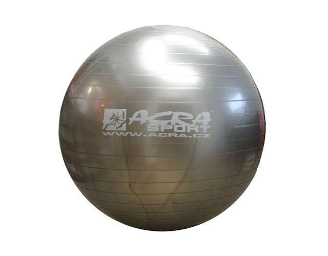 Piłka gimnastyczna srebrna 750 mm