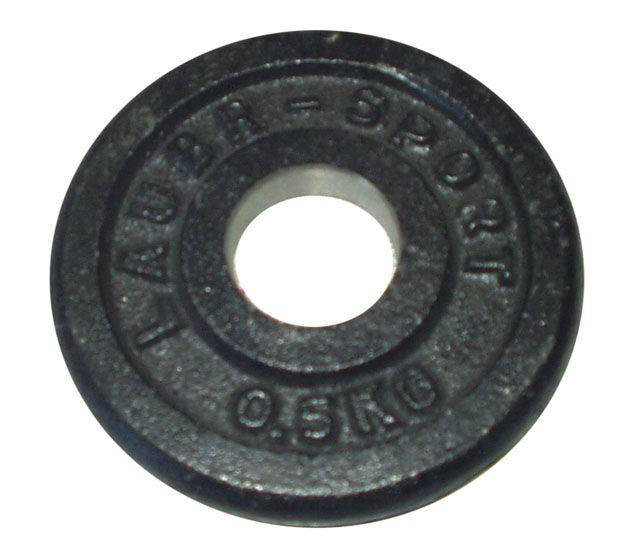 Talerz do sztangi 0,5 kg czarny 25 mm