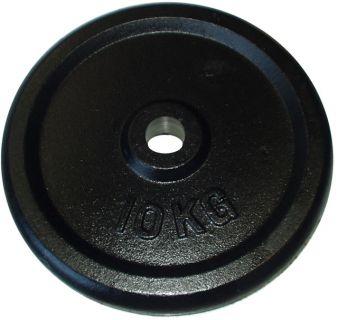 Talerz do sztangi 10 kg czarny 25 mm