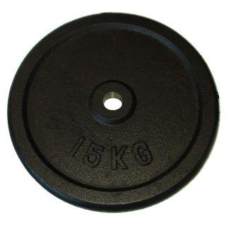 Talerz do sztangi 15 kg czarny 25 mm