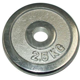 Talerz chromowany do sztangi 2,5 kg 30 mm