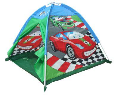 Namiotowa kopuła dla dzieci z nadrukiem samochodu.