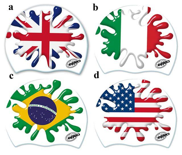 Silikonowy czepek pływacki - flaga