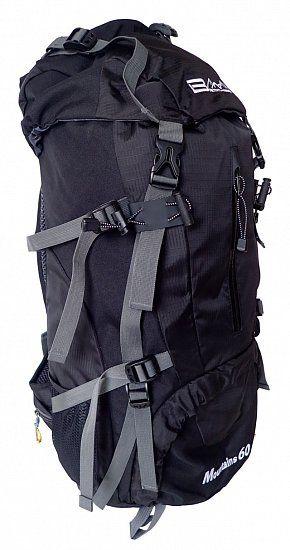 Plecak na wędrówki 60 l, czarny