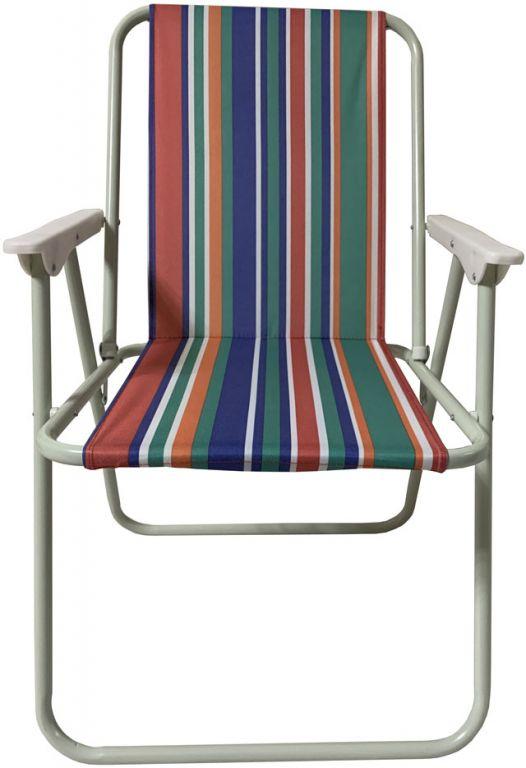 Składane krzesło kempingowe, kolorowe