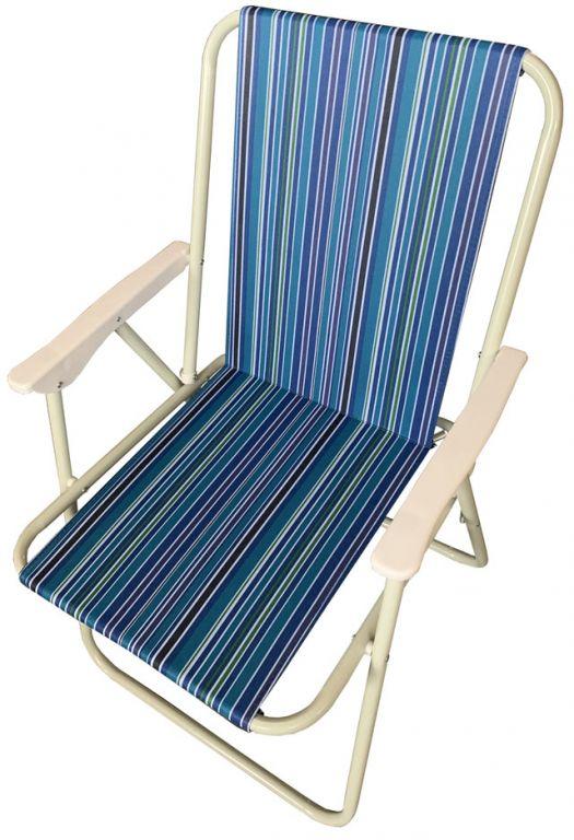 Składane krzesło kempingowe, niebieskie