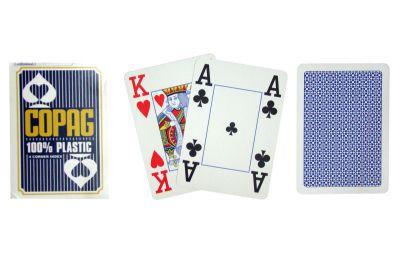 Karty do pokera Copag Jumbo 4 rogi Blue