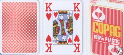 Karty do pokera Copag Jumbo 4 rogi Red