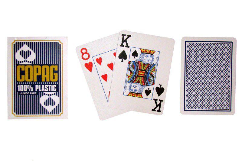 Karty do pokera Copag Jumbo 2 rogi Blue