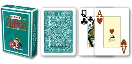 Modiano 2 rogi 100% karty plastikowe - zielone