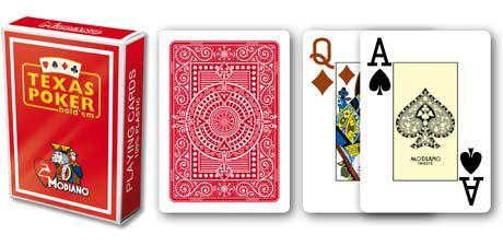 Modiano 2 rogi 100% karty plastikowe - czerwone