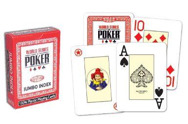 Karty pokerowe WSOP jumbo index czerwone
