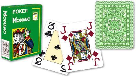 Modiano 4 rogi 100% karty plastikowe - jasno zielone