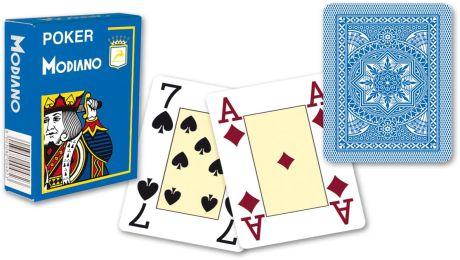 Modiano 4 rogi 100% karty plastikowe - jasno niebieskie