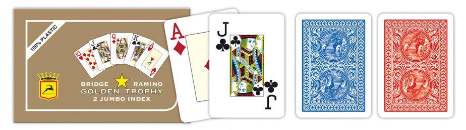 Modiano 2 rogowe karty, luksusowe RAMINO GOLDEN TROPHY