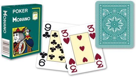 Modiano 4 rogi 100% karty z plastiku - Zielone