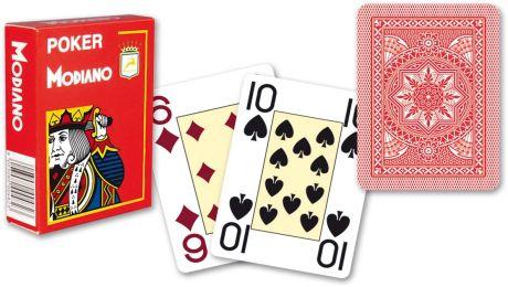 Modiano 4 rogi 100% karty plastikowe - czerwone