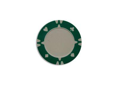żeton na sztuki design Flop zielony - 1 szt