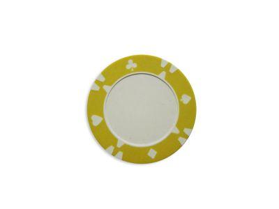 żeton na sztuki design Flop żółty - 1 szt
