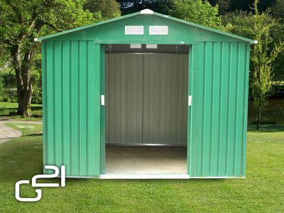 Domek ogrodowy G21 GAH 730 - 251 x 291 cm, zielony